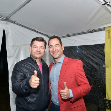 Alberto Amati i Zenek Martyniuk zespoł Akcent